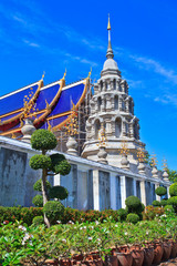 Pagoda at Wat Ban Den in Maetang, Chiangmai of Thailand