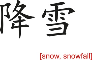 Chinese Sign for snow, snowfall