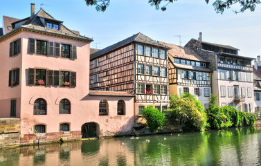 alsace, the picturesque city of Strasbourg in Bas Rhin