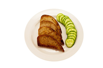 toast and cucumber green