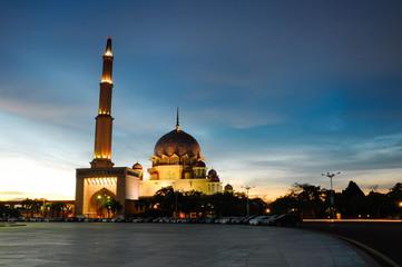 Sunset at Putra Mosque in Putrajaya
