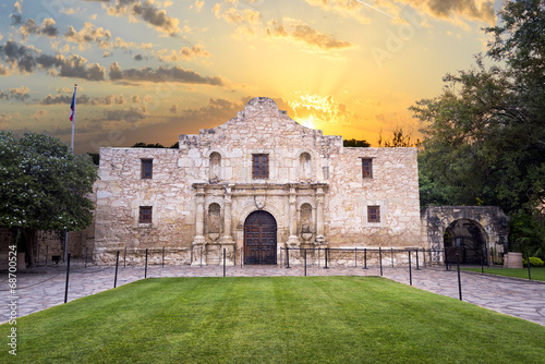 Deurstickers Vestingwerk The Alamo, San Antonio, TX