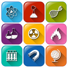 Science object icons