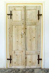 Double old wooden doors