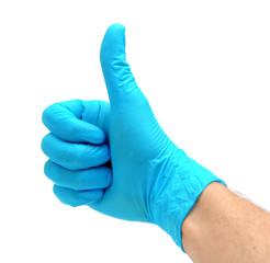 Man's hand in glove