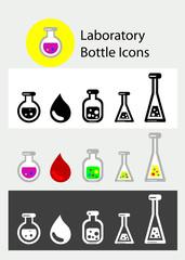 Laboratory icon set