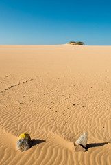 Rocks and Big dunes in Punta Gallinas