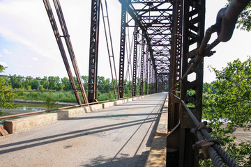 Old Truss Bridge Crossing the South Canadian River