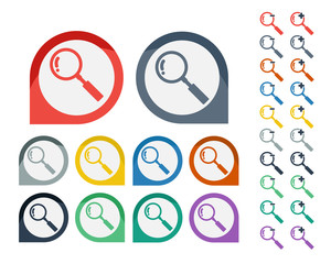 Colorful Magnifying Glass icon