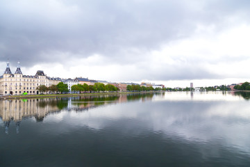View on Copenhagen canal from Dronning Louises Bridge.