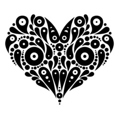 Decorative heart tattoo