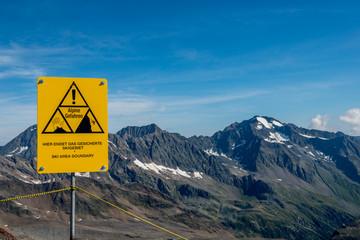 Alpine Gefahr