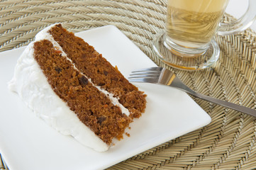 Carrot Cake with a Cup of Tea
