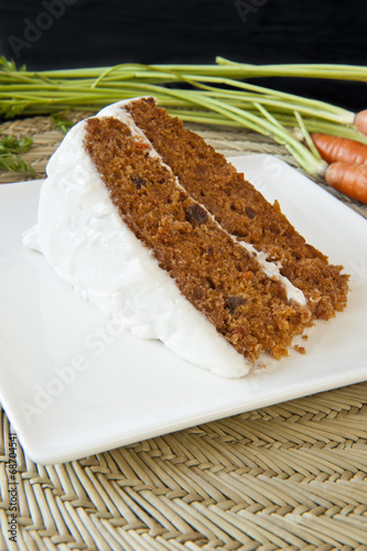 Carrot Cake with White Frosting