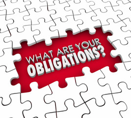 What Are Your Obligations Question Puzzle Pieces Hole