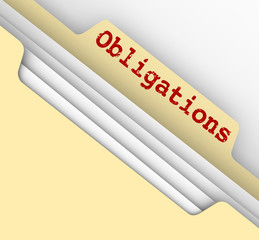 Obligations Word Manila File Folder Responsibilities Documents
