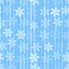 Abstract blue and white christmas seamless background