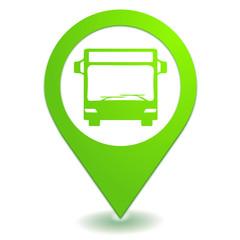 bus sur symbole localisation vert