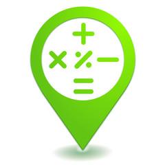 calculatrice sur symbole localisation vert