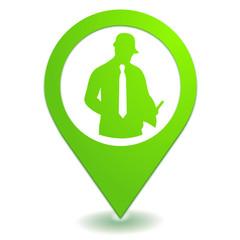 devis d'expert sur symbole localisation vert