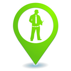 devis sur symbole localisation vert