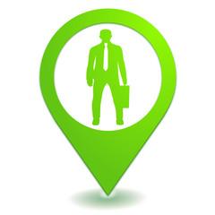 professionnels sur symbole localisation vert