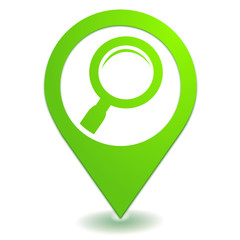recherche loupe sur symbole localisation vert
