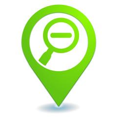 réduire sur symbole localisation vert