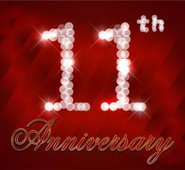 11 year happy birthday card, 11th anniversary sparkles