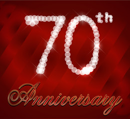 70 year happy birthday card, 70th anniversary sparkles
