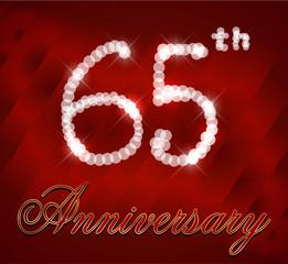 65 year happy birthday card,65th anniversary sparkles