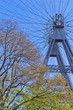Viennese giant wheel in Prater amusement park at Vienna