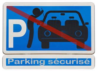 panonceau parking sécurisé