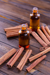 Essential aroma oil with cinnamon