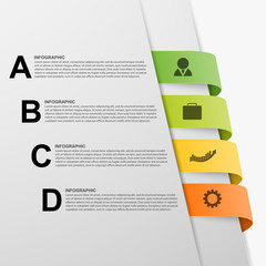 Abstract 3D illustration Infographic.