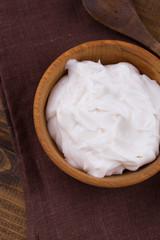 Sour cream or yogurt.