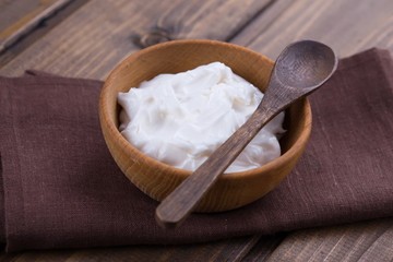 Sour cream or yogurt.