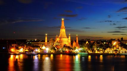 Twilight time of Wat Arun