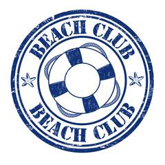 Beach club stamp