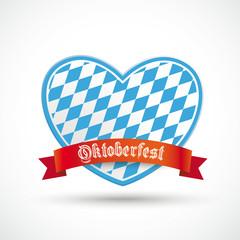 Oktoberfest Heart Red Banner