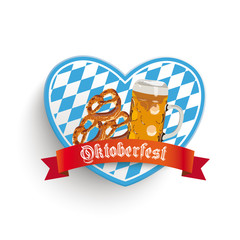 Bavarian Heart Beer Pretzel