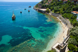 Shipyard and the ruins of a medieval fortress (Alanya Castle)