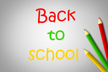 Back to school text on background