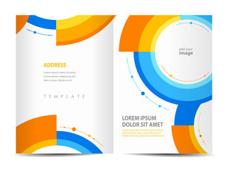 brochure round design template