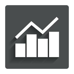 Graph chart sign icon. Diagram symbol.