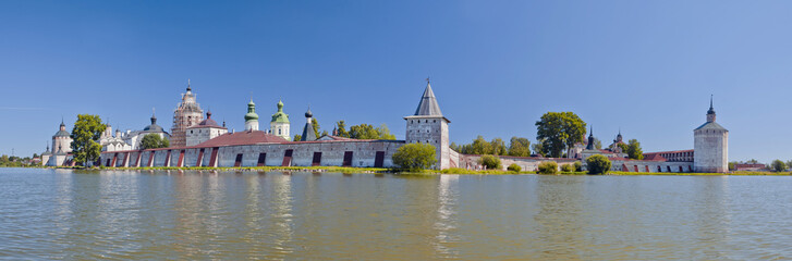 Summer panorama of St. Cyril of Beloozero's Monastery