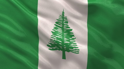 Flag of Norfolk Island waving - seamless loop
