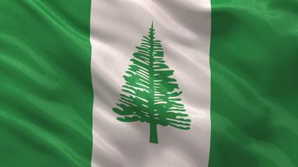 Flag of Norfolk Island waving - seamless loop
