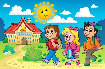 School kids theme image 4
