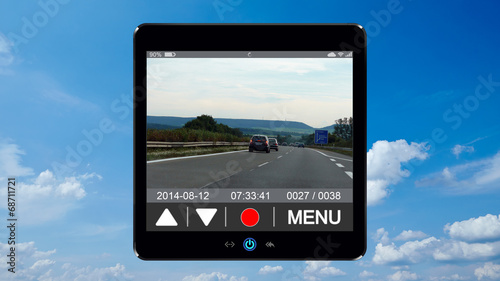 canvas print picture dashcam 8 - h-wolken v-foto1 - 16 zu 9 - g1048
